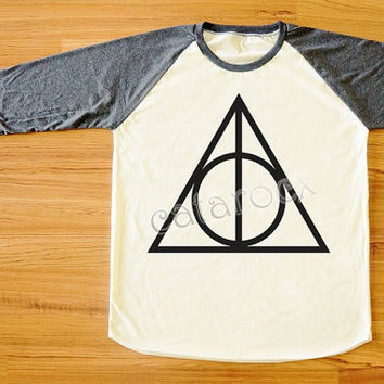 Deathly Hallows Shirt Harry Potter Shirt Long Sleeve Shirt Women T-Shirt Men T-Shirt Unisex T-Shirt Baseball Tee Shirt S,M,L