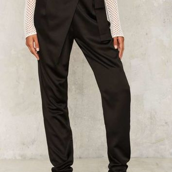 Lavish Alice Fold Court Satin Pants