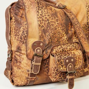 Free People Leopardito Messenger Bag