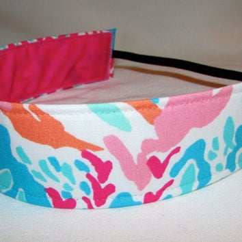 EmBands -  Lilly Pulitzer Inspired Wide Non-Slip Fabric Headband -  Birdie (2004), Let's Cha Cha, Electric Feel Fabrics