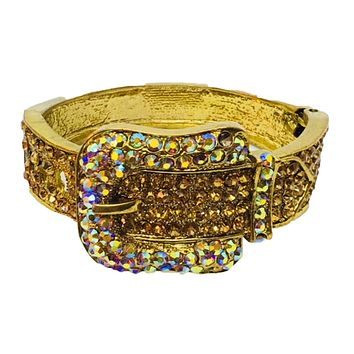 Blinged Out Buckle Bracelet