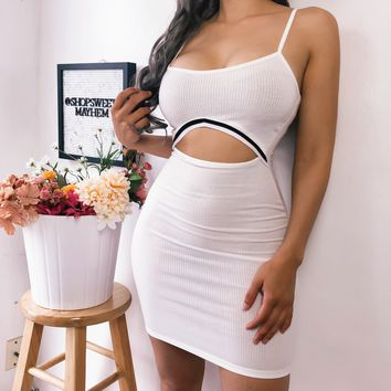 RESTOCKED! SHARIE CUT OUT DRESS (WHITE)