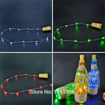 LED Festoon Cork Wine Bottle Stopper Star Christmas Tree Garland Wire String Lights New Year Vase Glass Xmas Club Bar Decoration