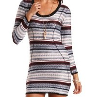 Velvet Tribal Print Cut-Out Dress by Charlotte Russe