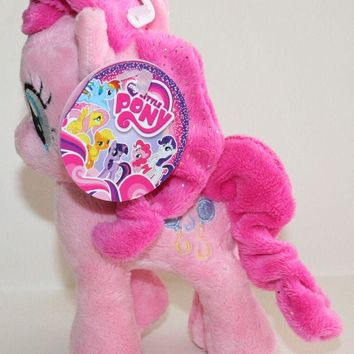"Licensed cool 6"" DELUXE My Little Pony Plush PINKIE PIE Toy Doll Plushie Balloons Cutie Mark"