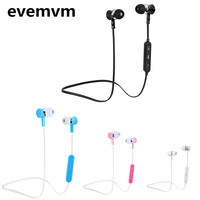 evemvm  Bluetooth Headphones In-Ear Noise Reduction Headset with Microphone SweatProof Stereo Wireless Bluetooth Headset