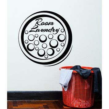 Vinyl Wall Decal Laundry Room Cleaning Service Bubble Decor Stickers Mural (g180)
