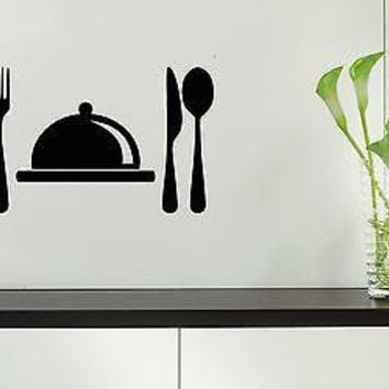 Wall Stickers Vinyl Decal For Kitchen Restaurant Food Chef Dish Unique Gift ig1558