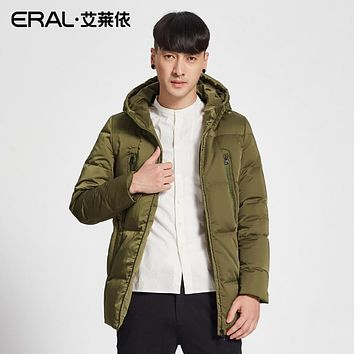 ERAL Men's Winter Down Coat Casual Hooded Solid Thermal Parka Short Down Jacket Female Plus Size ERAL20002-FDAA