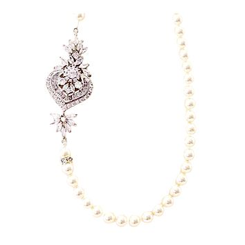 Swarovski Bridal Necklace with Cubic Zirconia Brooch