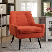 Pimento Orange Flannel Brooks Upholstered Chair