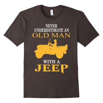 Men's Old Man With A Jeep - Jeep Man T-shirt