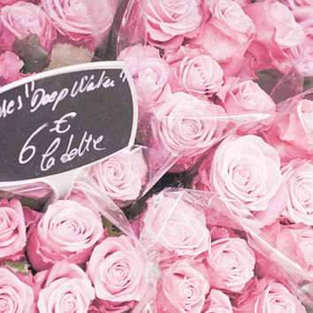 Paris Photo Roses Roses Bouquet of Pink Roses by GeorgiannaLane
