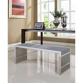 Medium Stainless Steel Gridiron Bench | Overstock.com Shopping - The Best Deals on Benches