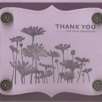 Thank you Card  Friendship by creativedesigns on Etsy