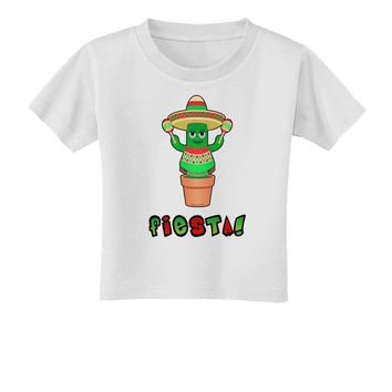 Fiesta Cactus Poncho Text Toddler T-Shirt