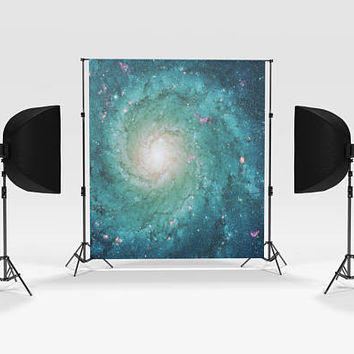 Galaxy Photography Backdrop - Galaxy Swirl, hanging background, stars, photo booth, photographer supplies