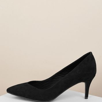 Pointed Toe Low Kitten Heel Classic Pumps