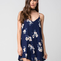 FULL TILT Floral Button Front Swing Dress | Short Dresses