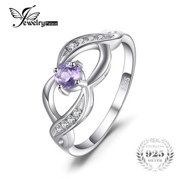 JewelryPalace 0.4ct Genuine Amethyst Anniversary Statement Ring 925 Sterling Silver New Arrival wedding ring gift for women