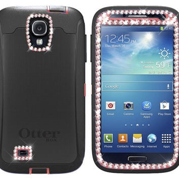 Swarovski Crystal Otterbox Defender Case Cover for Samsung Galaxy S4 with Belt Clip (Raspberry Pink)