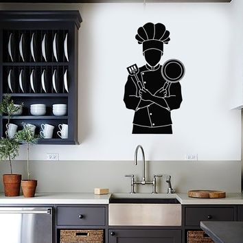 Vinyl Wall Decal Chef Cook Restaurant Kitchen Cooking Dining Room Stickers Mural (ig5382)