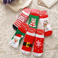 Children Christmas Warm Thick Cotton Terry Socks