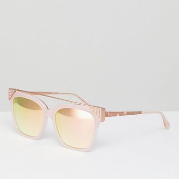 Ted Baker TB1489 208 Dawn Cat Eye Sunglasses In Pink at asos.com