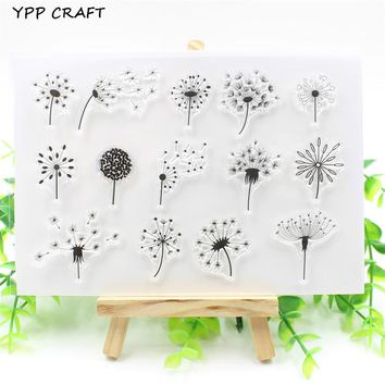 YPP CRAFT Dandelion Transparent Clear Silicone Stamp/Seal for DIY scrapbooking/photo album Decorative clear stamp