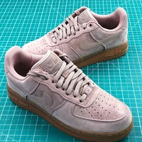 Nike Air Force 1 Low Af1 Pink Suede Sport Shoes - Best Online Sale