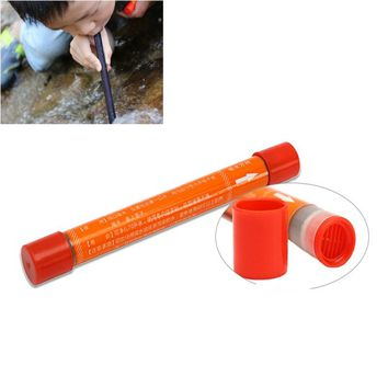 125mmx12mm Portable Mini Straw Water Purifier Camping Hiking Outdoor Water Straw Filter Safety Survival Emergency Tools