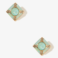 Bejeweled Square Studs