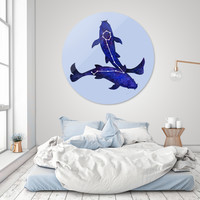 «Astrological sign pisces constellation», Exclusive Edition Oeuvre sur Disque by Savousepate - From 190€ - Curioos