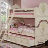 Sugar and Spice Twin Over Twin Bunk Beds