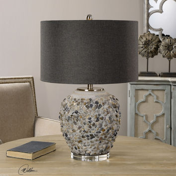 Carrabelle Layered Stones Lamp