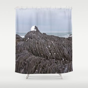 The Ends of the Earth are Frozen in Time Shower Curtain by DanByTheSea