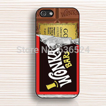 Hot Style Opened Half Wonka Chocolate Black Case Cove for iphone 4 4s 5 5s 5c 6 6s 6PLUS 6s plus