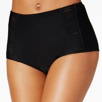 Hula Honey Malibu Solids High-Waist Swim Bottoms | macys.com
