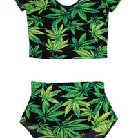 Weed Leaf Two Piece Set- LAST ONE