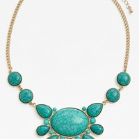 Stephan & Co. Teardrop Stone Necklace (Juniors) (Online Only)