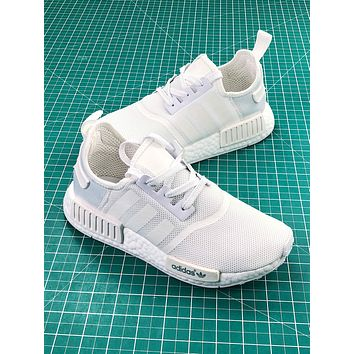 Adidas Nmd R1 Pk Boost Triple White Sport Running Shoes