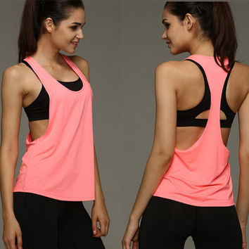 Hot Girl Yoga Tang Top Active workout Yoga Clothes Breathable Material