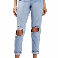 Forever or Never Distressed Jeans
