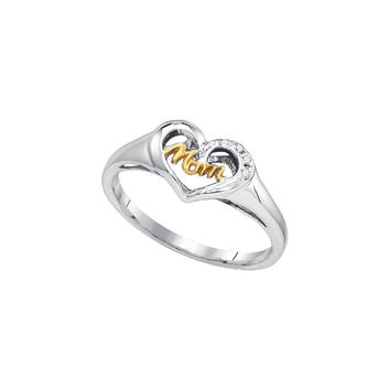 0.02CTW-Diamond MOM RING