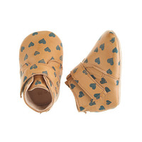crewcuts Baby Easy Peasy Leather Heart Booties