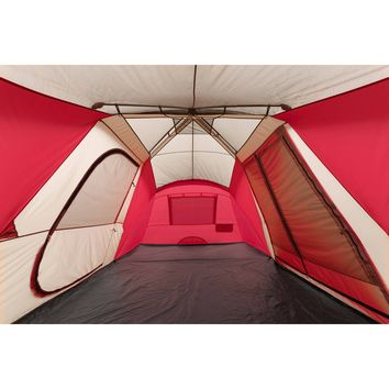 Spacious Mega Camping Tent 3-Rooms Instant Tent with Awning,  Occupies12 Individuals Ozark Trail 21' x 10' -Free Shipping
