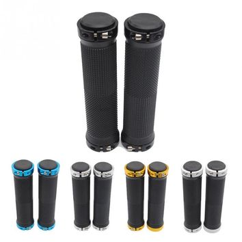 1 Pair MTB Mountain Bike Grips Rubber Lock On Handlebars Lock-on Grips Fixed Gear Fixie Grips End Knock Off Handlebar Cover #15