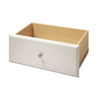 Martha Stewart Living 12 in. x 24 in. Classic White Deluxe Drawer Kit-W10 - The Home Depot