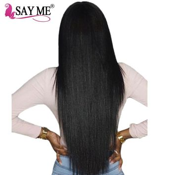 Brazilian Straight Hair Weave Bundles Can Buy 3 Or 4 Bundles Human Hair Bundles SAYME Hair Extensions 1 PC Non RemyFree Shipping