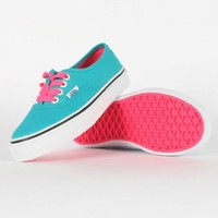Vans - Youth K Authentic Shoes In Pop Lace/Blue Bird: Shoes